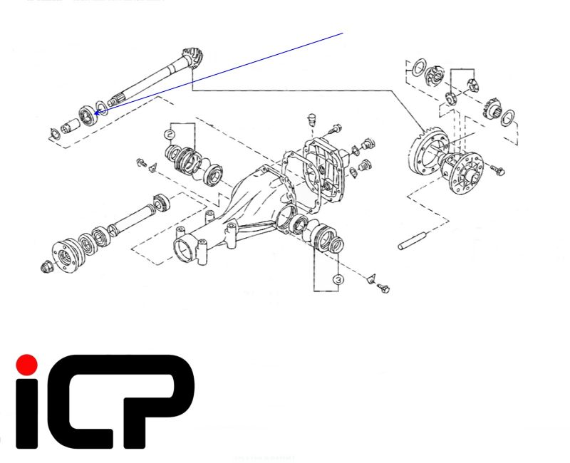 Subaru Impreza Turbo R160 Rear Diff Bearing Rebuild Kit