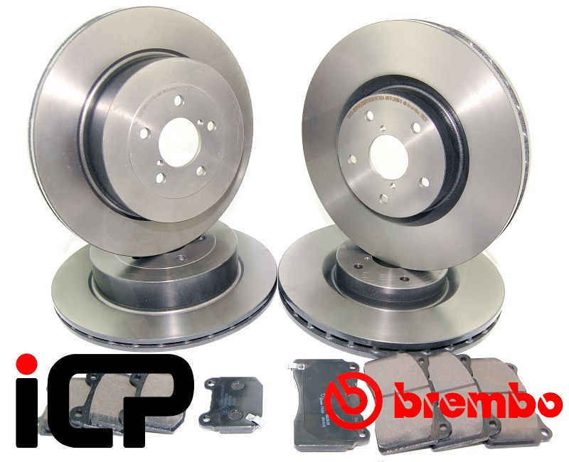 98 99 00 01 Fits Subaru Forester OE Replacement Rotors w//Ceramic Pads F